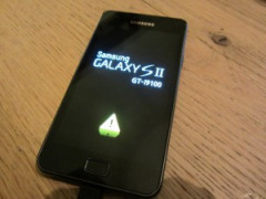 triangle jaune galaxy s2